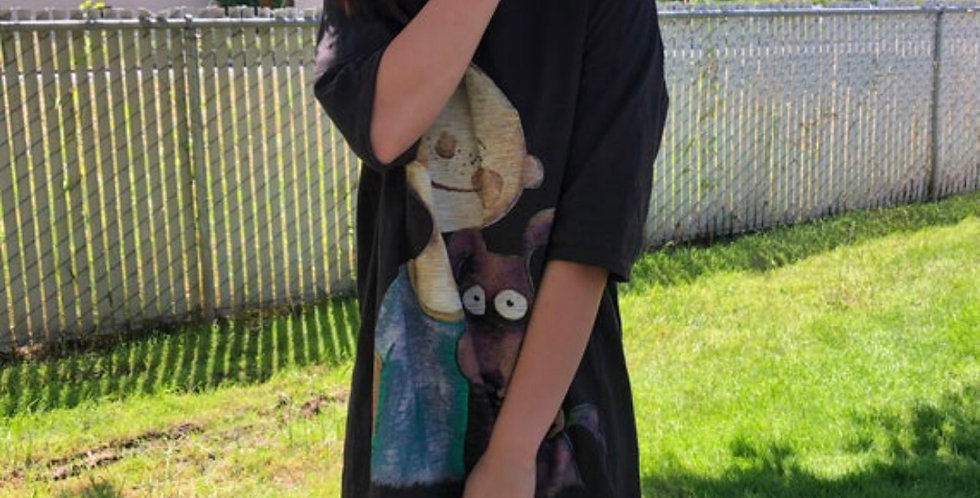Japanese Street style oversized T-shirt dress