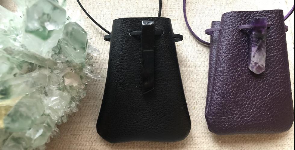 "Vegan ""leather"" Medicine pouches"