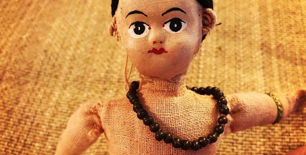 Strange handmade doll #1 bead necklace