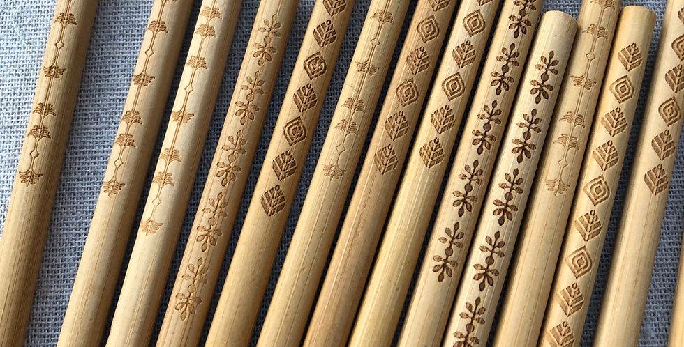 Wood Burnt Chopstick set