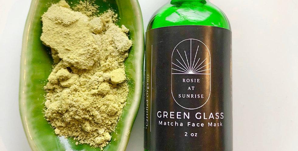 Green Glass Face Mask