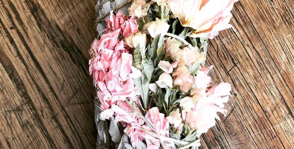 Sage Sticks with Dried Flowers