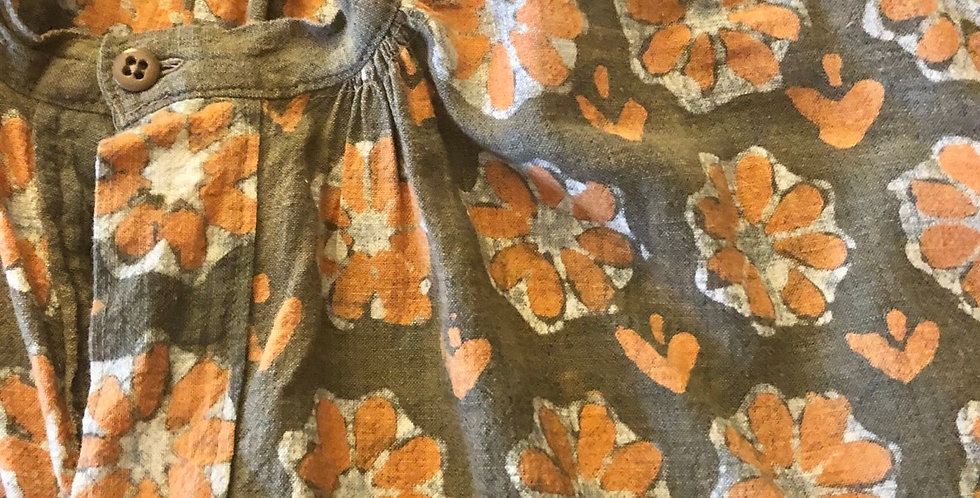 Folk Wear Batik Linen Hippy Smock