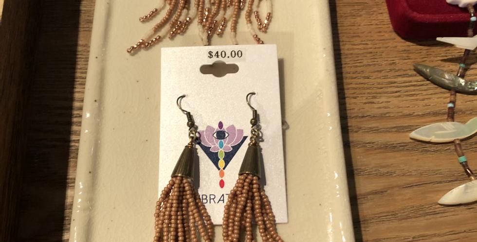 Gorgeous Waterfall Beaded Earrings