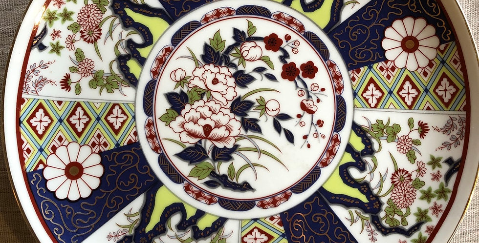 Handpainted Dalhia Dish