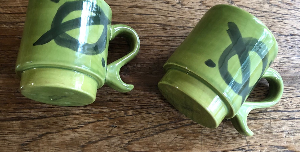 Mid century Unique Design JapaNese Vintage Mugs