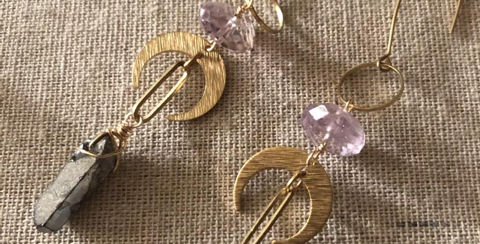 Dark Moon Warrioress Earrings
