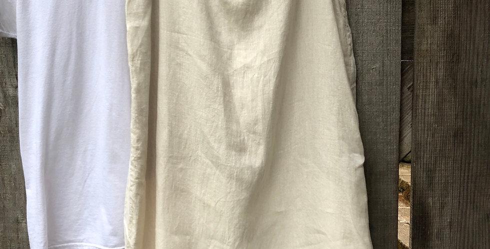 Wardrobe Basic sand colored Linen skirt