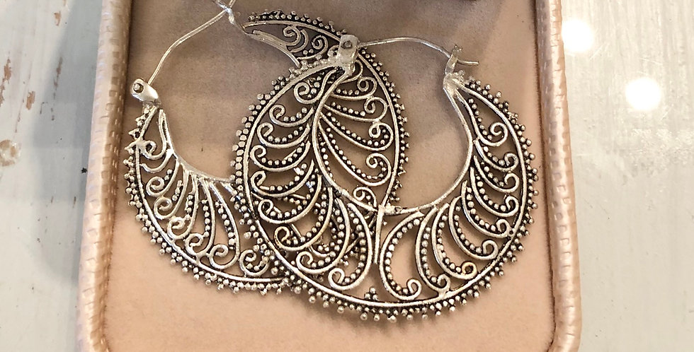 Lacey Pure Silver Hoops