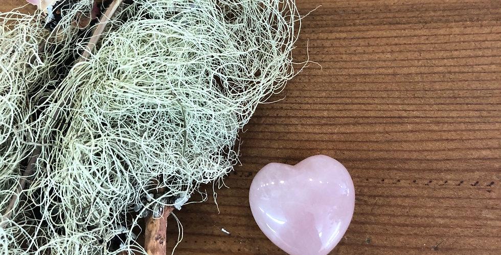 One Adorable Rose Quartz Heart