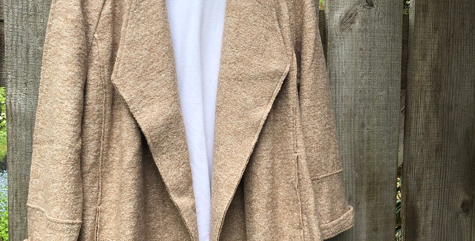Beautiful Raw Wool overcoat