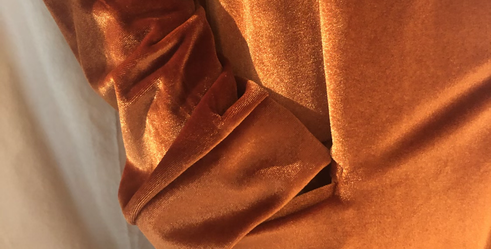 Beautiful Ochre Velvet Trench