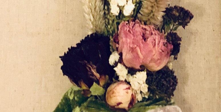 Gorgeous Sage Flowers Candles Crystal Bundle