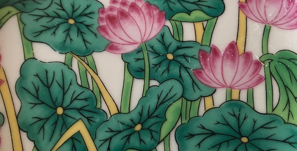 Lovely Handpainted Lotus Plate set