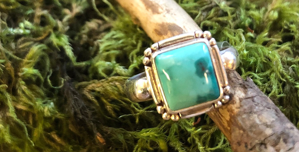 Little Milky Turquoise Ring size8 & 8.5
