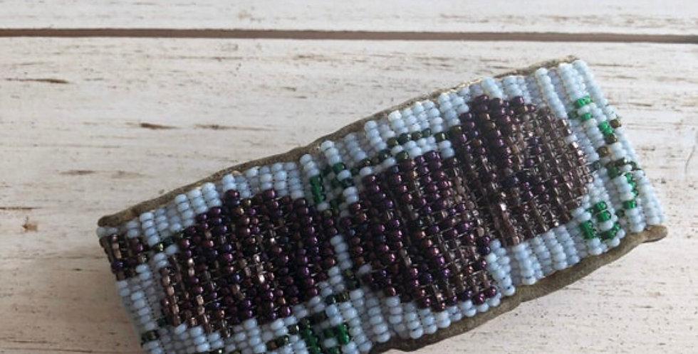 Authentic Handbeaded Rose Band Bracelet