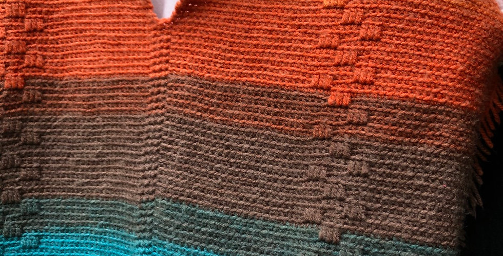 Rainbow Hand Knit One of a Kind Sweater