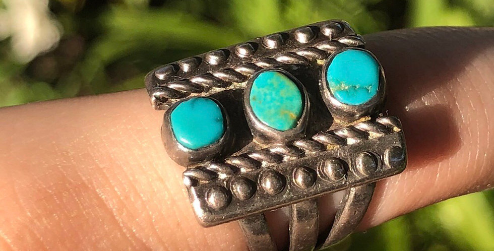Reservation Native vintage turquoise Pinky ring
