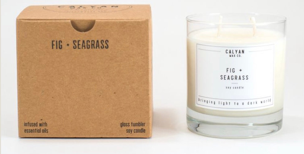 Fig & Seagrass Natural Candle