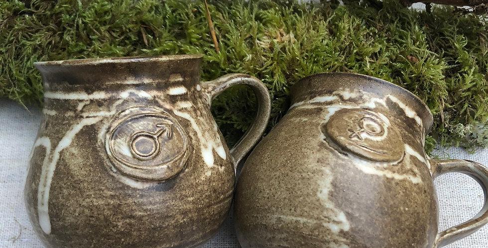 Male & Female handmade Mini Mugs