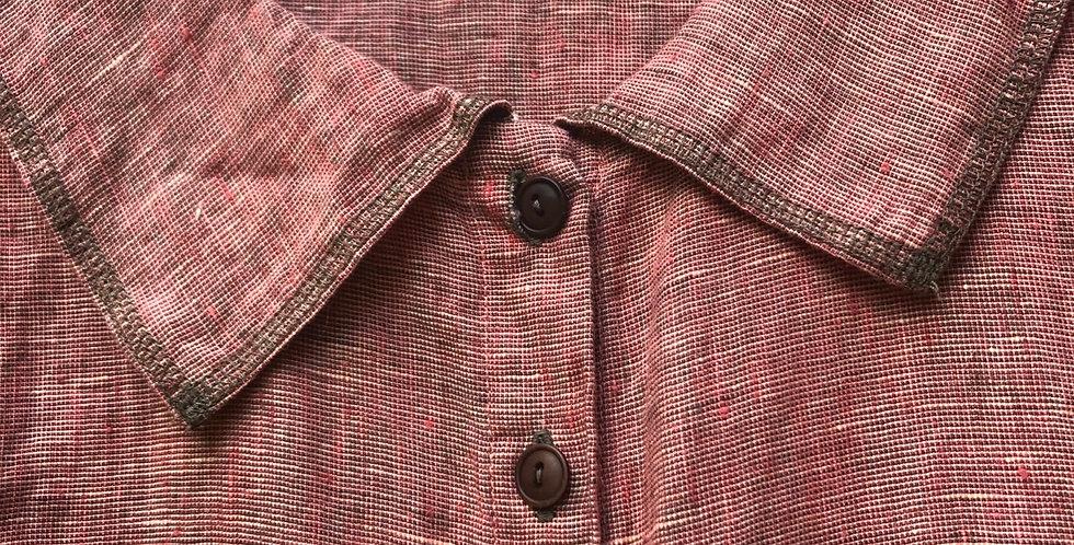 Rhubarb Flax Linen Tunic