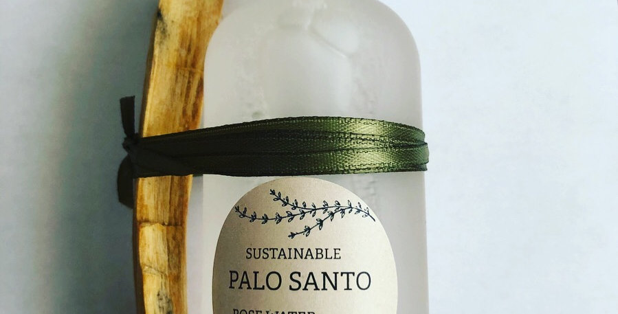 Palo Santo ethically harvested & organic Rose Water Hydrosol