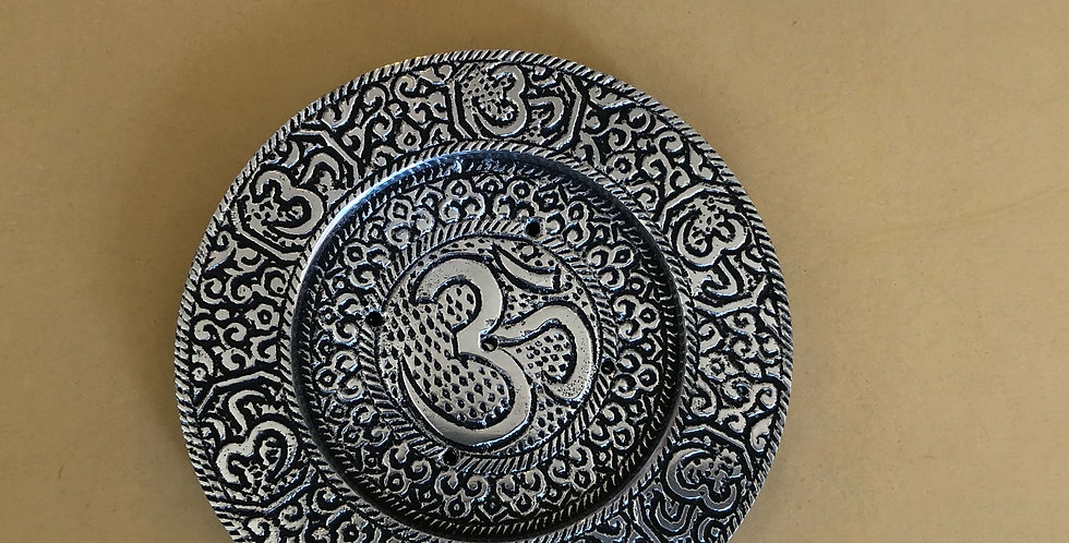 Elaborate OM Incense Plate