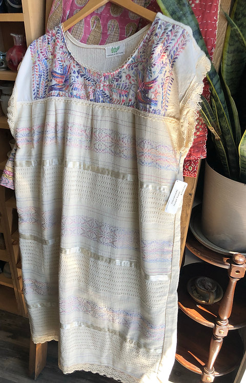 Authentic Embroidery Plus size Mexican Peasant Dress