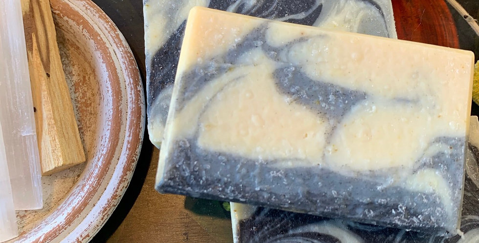 Coco-Shea Butter Charcoal Marbled Soap