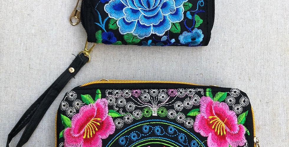 Beautiful Surreal Floral Wallet purses
