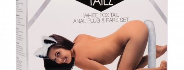 NEW White Fox Tail and Ears Set
