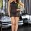 VIP Black Mini Dress front view plus size