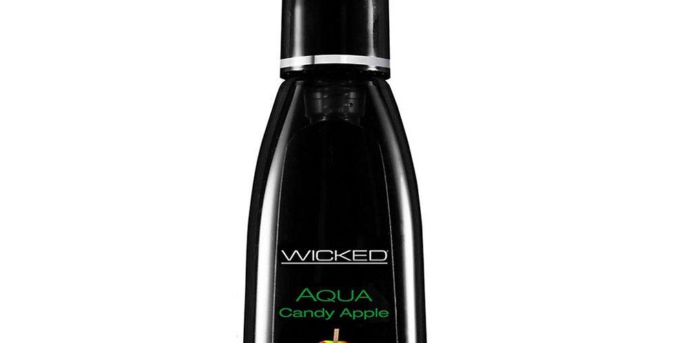 Aqua Flavored Lube 2oz/60ml in Candy Apple