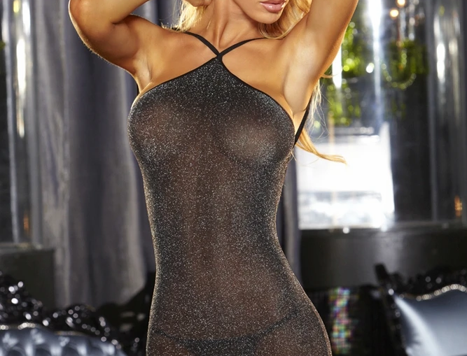 VIP Black Mini Dress