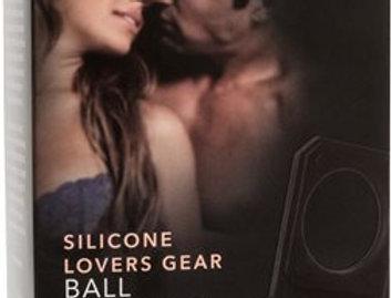 Silicone Lovers Gear Ball Spreader Enhancer, Black