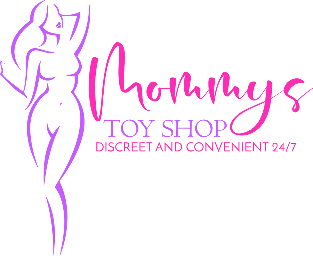 Mommys toy shop logo of a purple woman