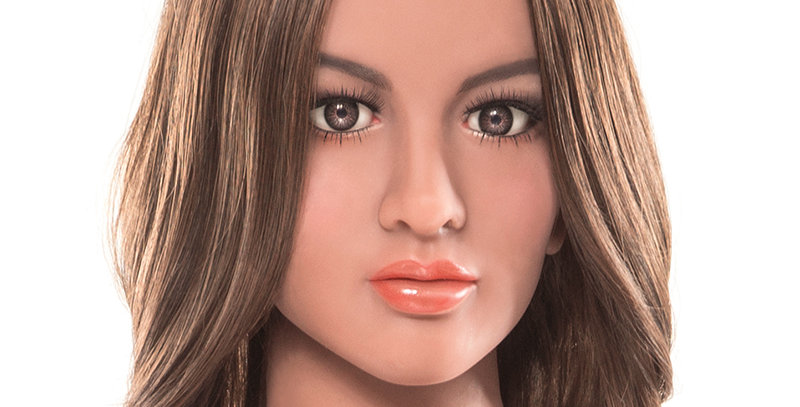 Visual representation of a life sized love doll. Face