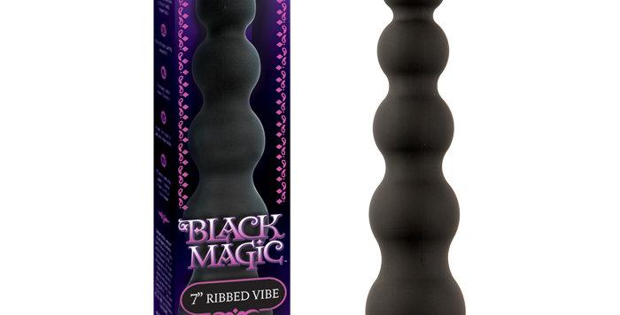 Black Magic 7 inch Ribbed Vibe