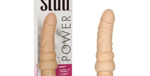 Curved flesh coloured vibrator
