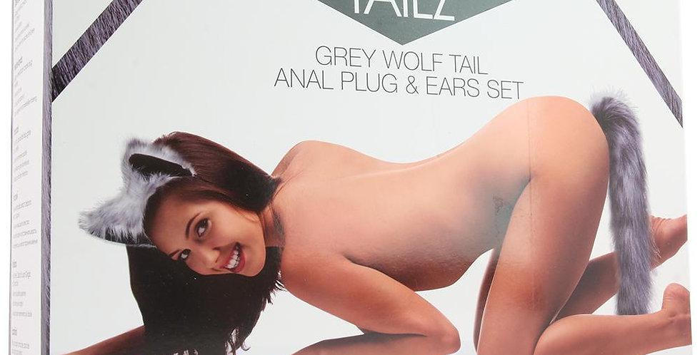 Tailz Grey Wolf Tail Anal Plug & Ears Set