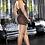 VIP Black Mini Dress back view plus size