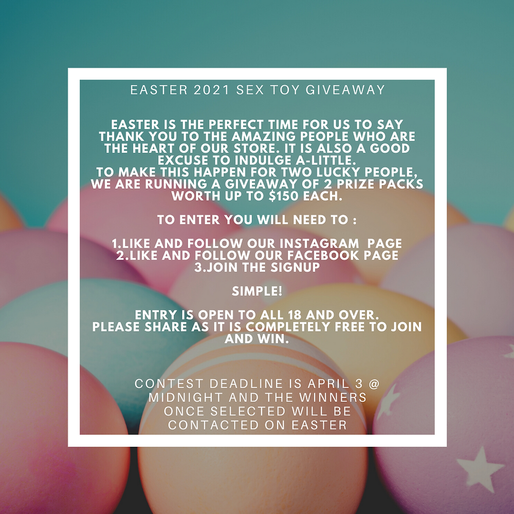 FREE SEX TOY GIVEAWAY FOR EASTER 2021