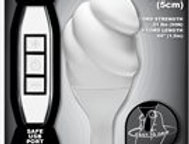 """Hands On 2"""" Textured Silicone USB Vibrator, White"""