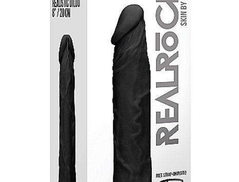 Black dildo 8 inches with strapon
