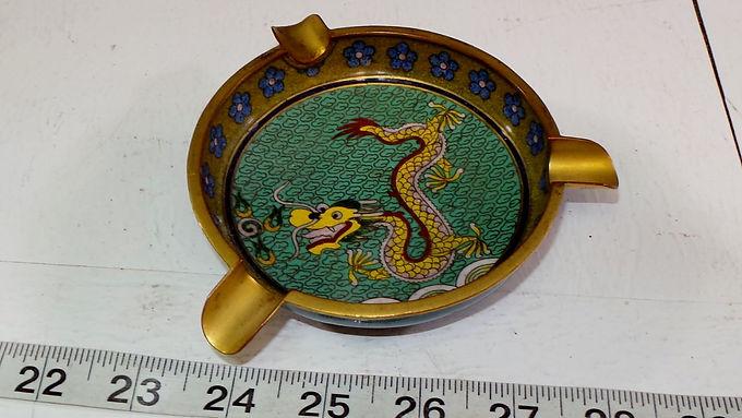 Brass Chinese Dragon Ashtray