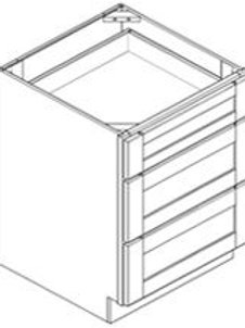"""18"""" Drawer Base Cabinet with Three Drawer"""