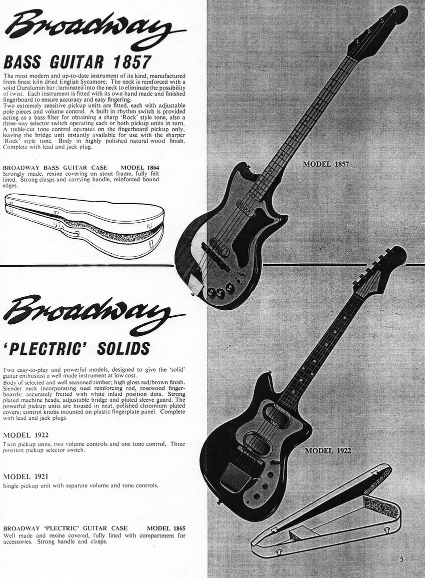 Broadway 1857 Bass guitar
