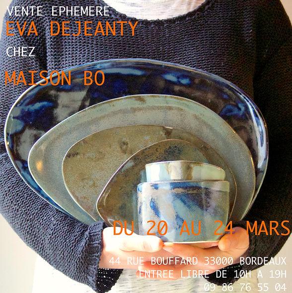 Vente éphémère Eva Dejeanty chez Maison Bo Bordeaux