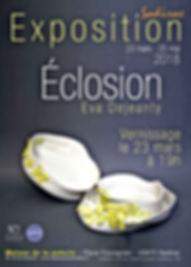 Exposition Eclosion Eva Dejeanty musée de la poteir à Sadirac