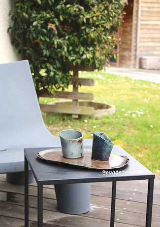 Plateau et bols atelier de céramique Eva Dejeanty.